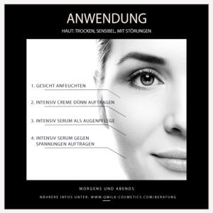 Qmilk Cosmetics Anwendung 2 300x300 - QMILK Intensiv Serum